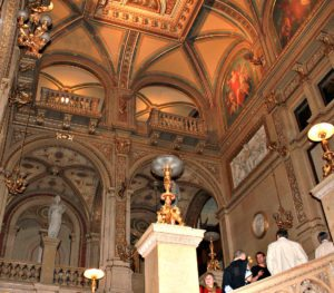 Booking Vienna opera tickets: staircase at State Opera