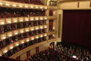 Things to do in Vienna April: auditorium of Vienna State Opera