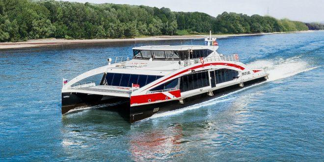 Twin city Liner catamaran on the Danube
