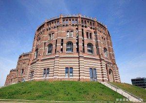 Gasometer city in Vienna