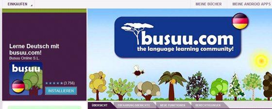 Learn German for free: Busuu