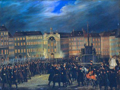 painting of revolution 1848 in Vienna