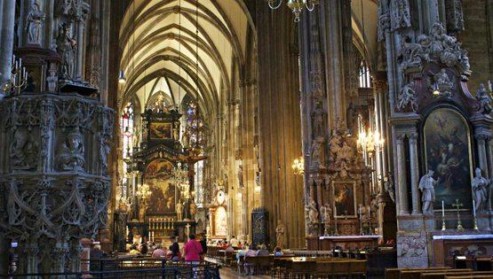 interior of Stephansdom, Vienna