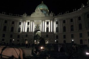 Hofburg Palace by night