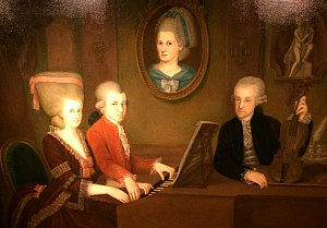 Mozart operas: Mozart playing the piano; Haus der Musik