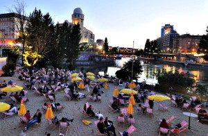 Things to do in Vienna August: Strandbar Herrmann