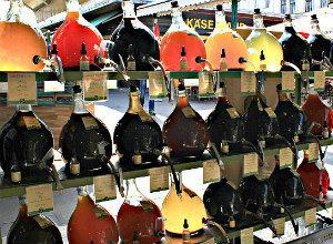 Things to do in Vienna January: artisan vinegar on Naschmarkt