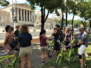Vienna bike tour: Austrian Parliament
