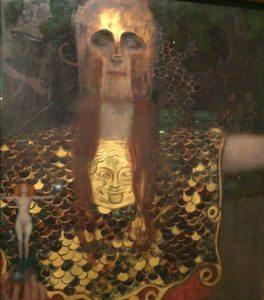 Vienna Museum: Pallas Athene by Gustav Klimt
