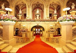 Vienna Opera Ball: grand staircase