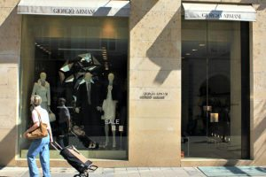 Vienna shopping for luxury: Armani at Kohlmarkt