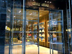 Vienna shopping for luxury: Miu Miu at Golden Quarter / Tuchlauben