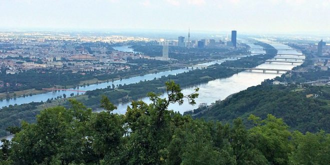 Where is Vienna Austria: view from Leopoldsberg