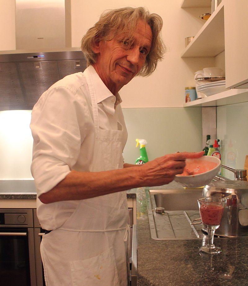 Wolfgang Hafner Scheuer at Vienna restaurant Mezzanin 7