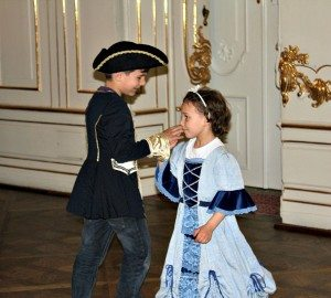 Children's quadrille dancing at Schonbrunn