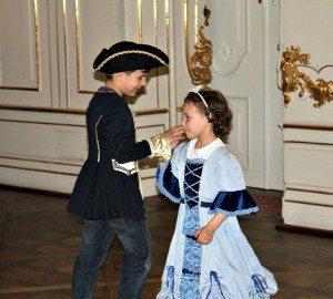 Children's quadrille dancing at Schonbrunn