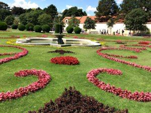 Baroque gardens: Schonbrunn Palace, Vienna Austria