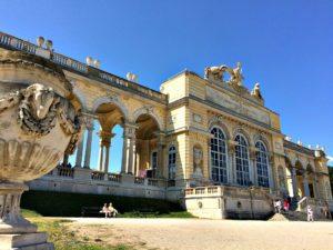 Gloriette at Schonbrunn gardens in Vienna