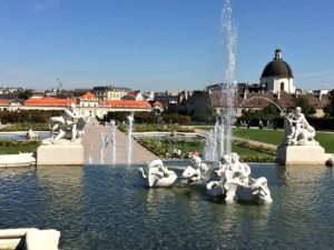 Baroque Gardens: fountain at Belvedere Palace, Vienna