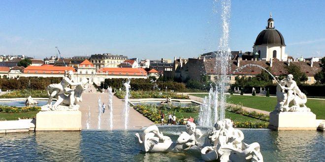 Belvedere Vienna gardens