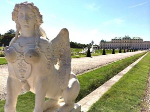 Sphinx at Belvedere Vienna gardens