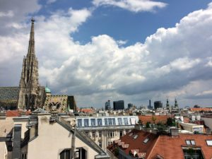best rooftop views Vienna: Stephansdom from Sky Bar