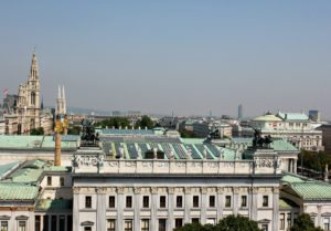 best rooftop views Vienna: from Justizcafe