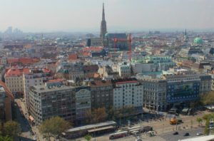 best rooftop views Vienna: city centre from Le Loft