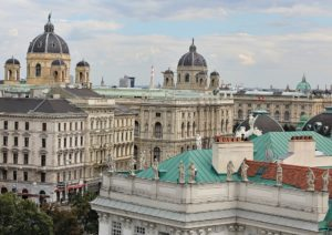 best rooftop views Vienna: Volkstheater from 25 Hours Hotel