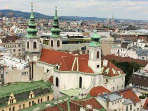 Best Rooftop Views Vienna: Church Maria Hilf from Haus des Meeres