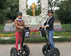 Vienna Segway Tour Review: Johann Strauss Statue