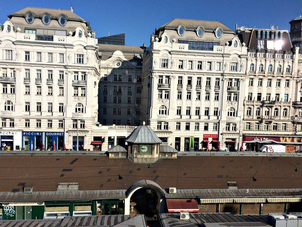Vienna apartment rental: view on Naschmarkt