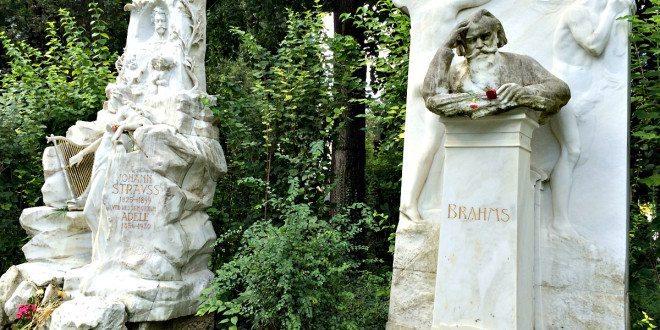 Central Cemetery Vienna: Strauss and Brahms graves