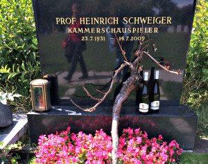 Central Cemetery Vienna: Heinrich Schweiger's grave