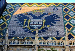 Stephansdom's tiled roof