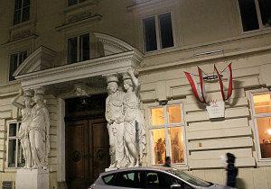 Vienna by night: Pallavicini Palace