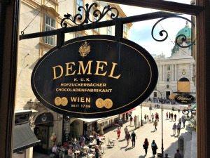 Demel Vienna sign