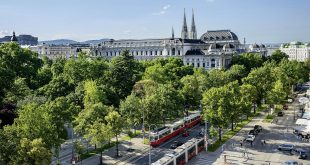 view on Ringstrasse in Vienna
