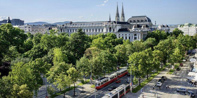 Blick auf die Ringstraße in Wien