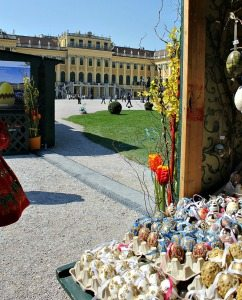 Things to do in Vienna April: Easter market Schonbrunn