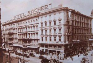 Hotel Sache, historic photo