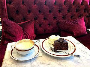 Sacher Torte and melange