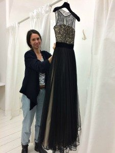 Shopping in Vienna: evening dress shop