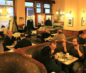 Wifi in Vienna: central coffeehouse