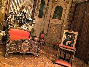 Bed at Empress Sissi Palace Hermes Villa