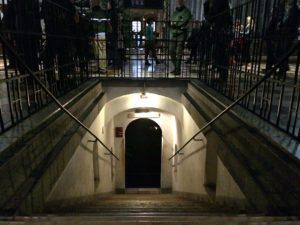 Stephansdom: entrance to Catacombs