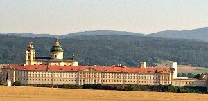 Vienna Salzburg Day Trip: Melk Abbey from the road