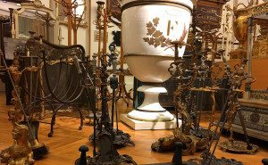 Hapsburg Museum of Furniture: collection of pokers