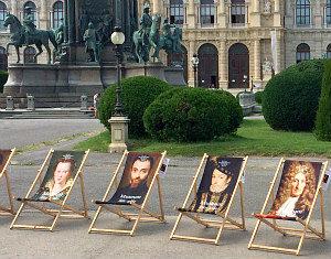 24 Hours in Vienna: Museum of Fine Art deckchairs