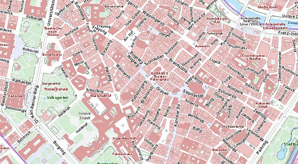 map of Vienna: city council map